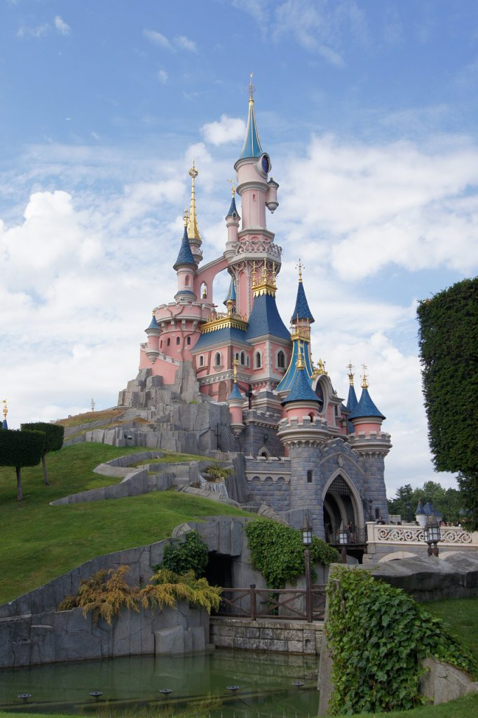 Disneyland Paris Where are Disney Parks Located with Pink Sleeping Beauty Castle