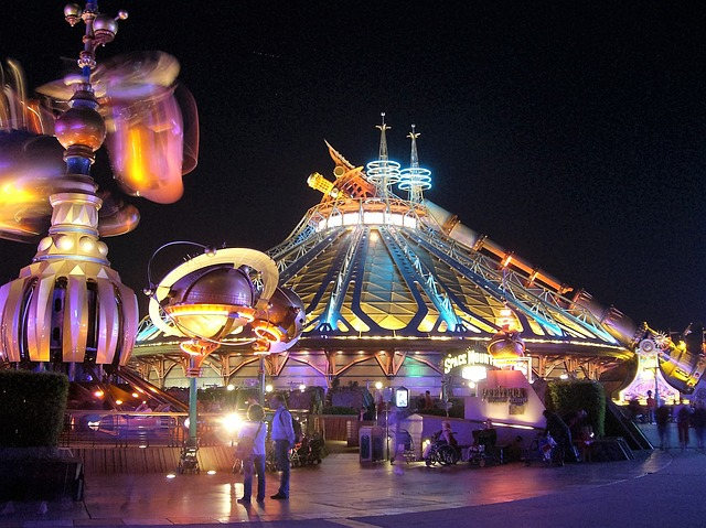 Disneyland Paris Where are Disney Parks Located Space Mountain at Night