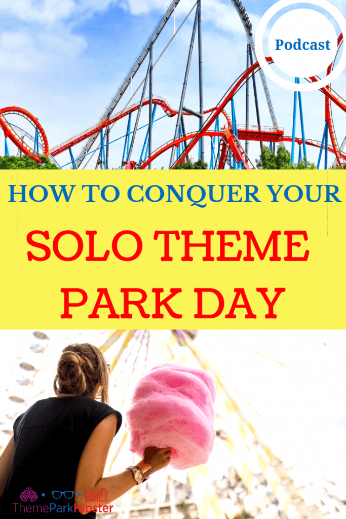 HOW TO CONQUER YOUR SOLO THEME PARK TRIP with Red and Blue Roller Coaster.