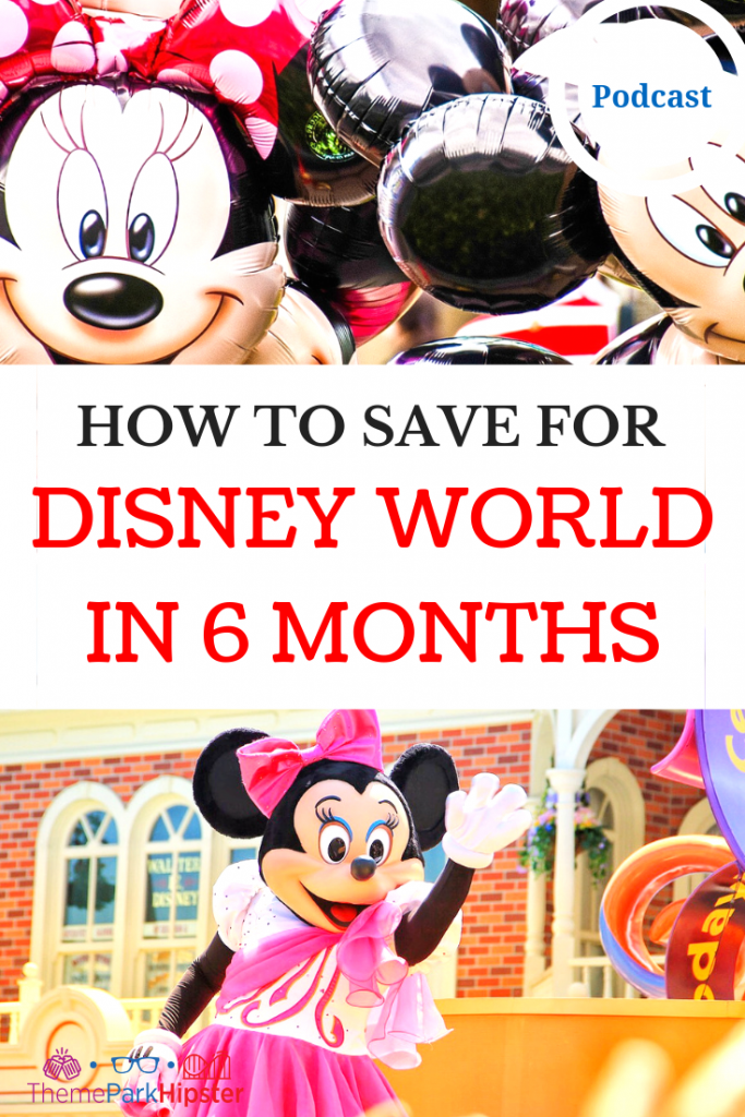 HOW TO SAVE FOR DISNEY WORLD with Mickey Mouse and Minnie Mouse. Saving for a trip to Disney