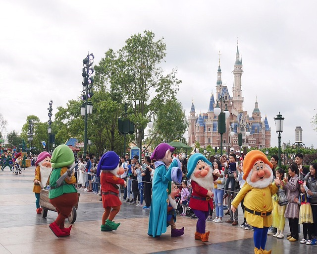 Shanghai Disneyland with Princess Castle