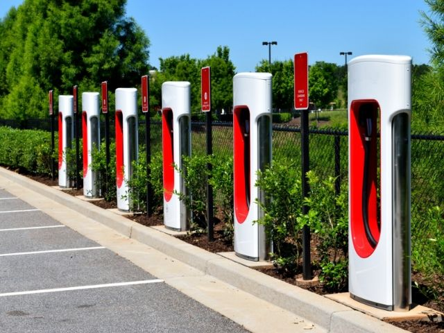 electric charging stations at Disney