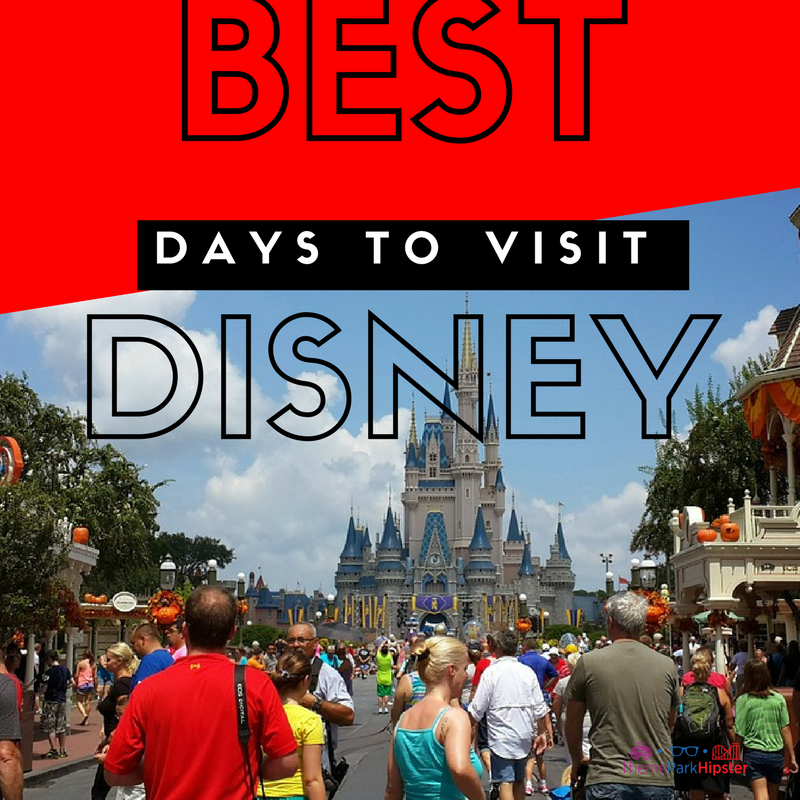 Best and worst days to visit disney. Cinderella Castle in the midst of Main Street U.S.A