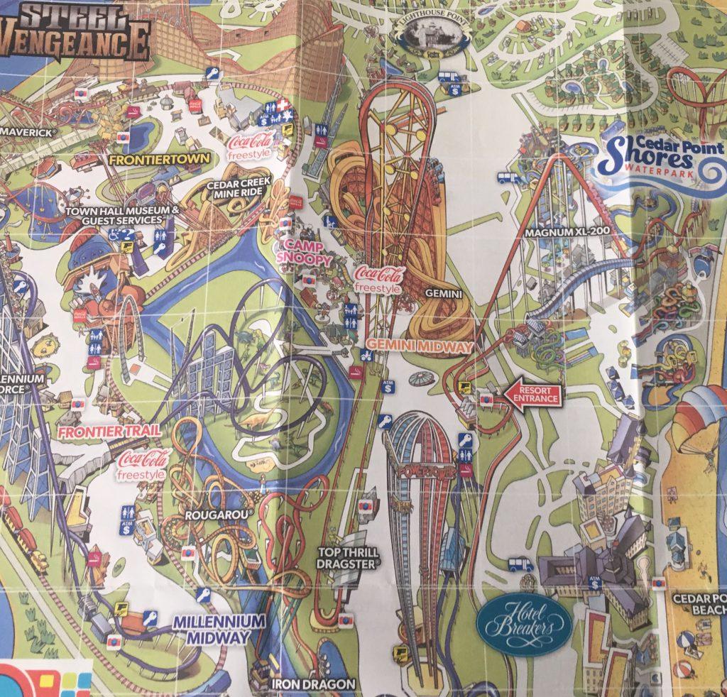 Cedar Point Map 1
