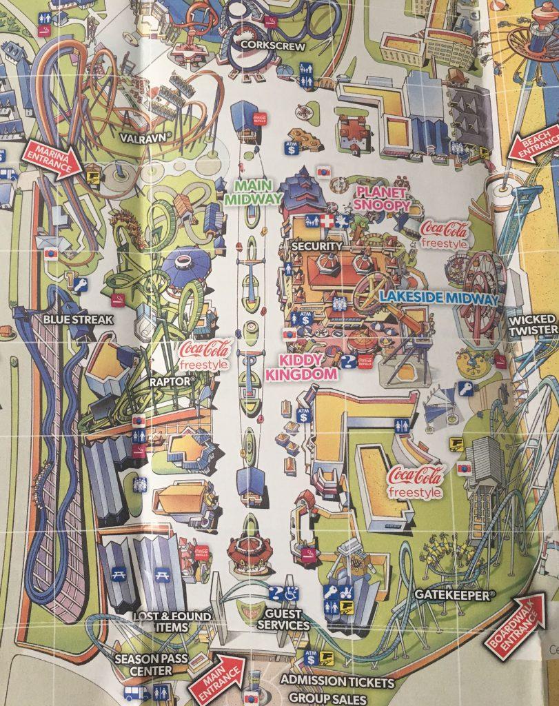 Cedar Point Map 3