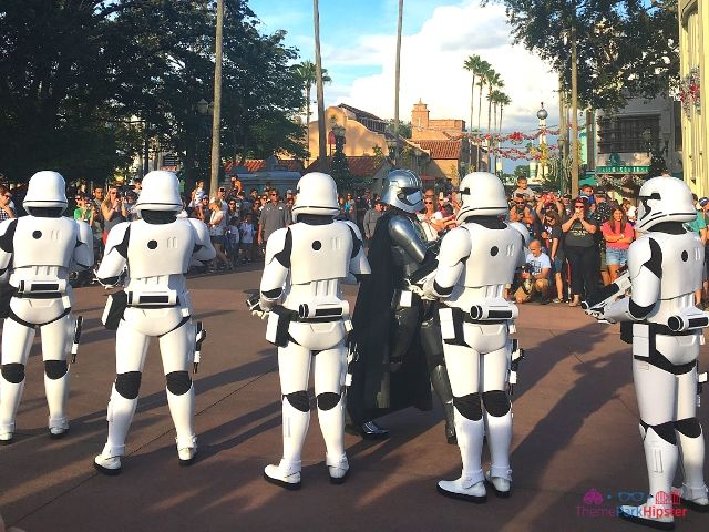 Star Wars at Hollywood Studios Storm troopers. March of The First Order,