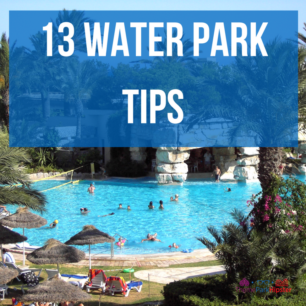 First timer water theme park tips with gigantic aqua blue lagoon pool.