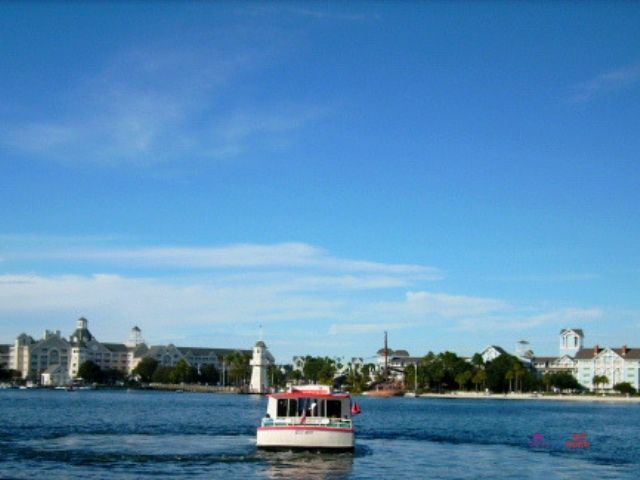 Disney Boats and Ferries on the lagoon.