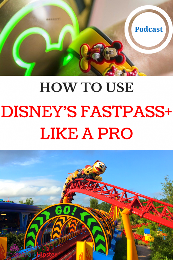 Disney World FastPass Secrets with Slinky Dog Dash roller coaster in the background.