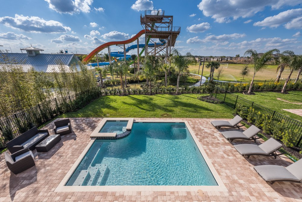 Encore at Reunion Resort Orlando Vacation Home. Orlando Family resorts with water slides.