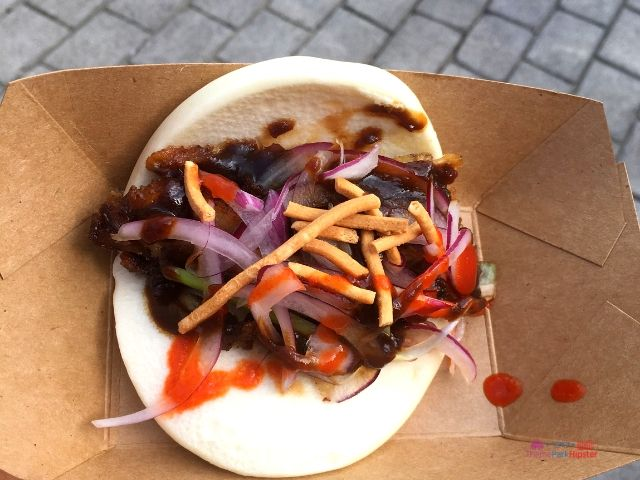 Epcot Food and Wine Festival Menu Beijing Roasted Duck Bao Bun
