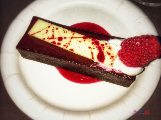 Epcot Food and Wine Dark Chocolate Raspberry Torte