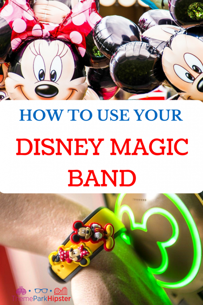 How to use Disney MagicBand with Minnie Mouse and Mickey Mouse balloons.