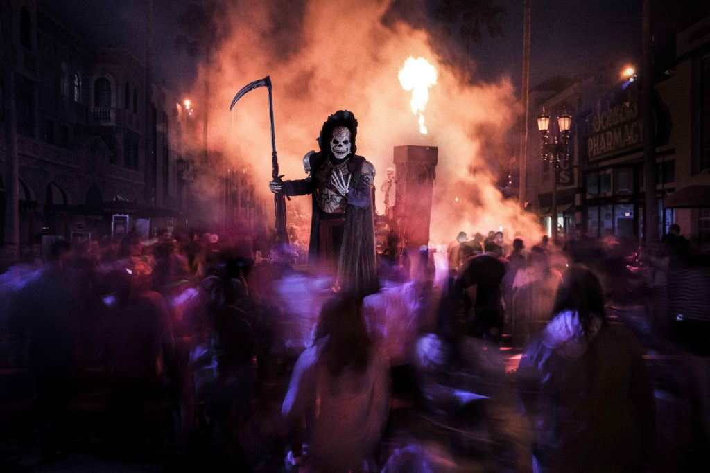 Halloween Horror Nights Tips with ghoulish being at Universal Studios