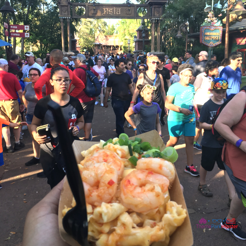 Shrimp Topped Mac and Cheese Animal Kingdom