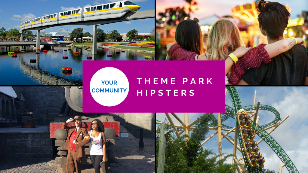 ThemeParkHipster Community. Yellow and white Epcot monorail. Green and yellow Cheetah Hunt roller coaster.