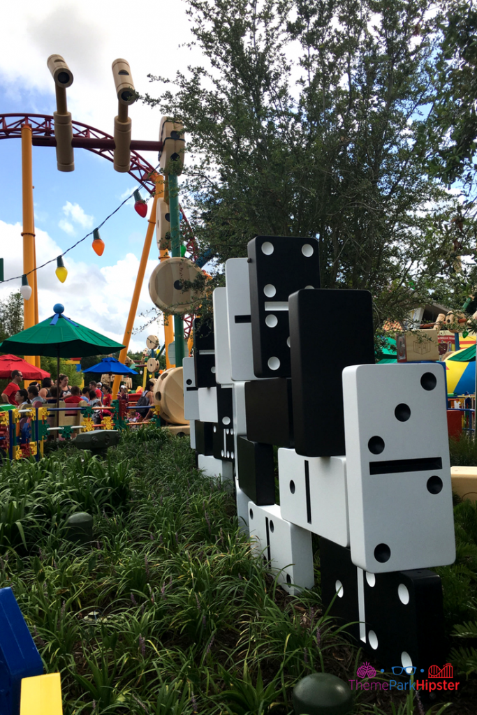 Toy Story Land Tips Life size domino games.