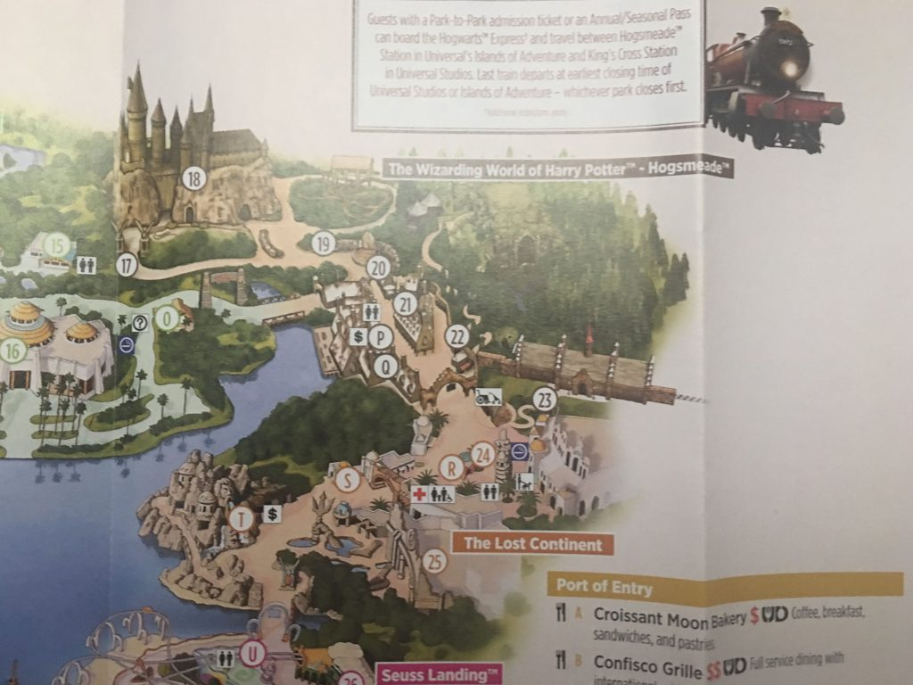 Wizarding World of Harry Potter Hogsmeade Map