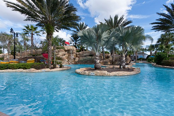 Orlando Family Resorts with water slide and Water park at Reunion Resort near Walt Disney World