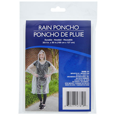Clear, Plastic Rain Poncho you could buy for your next Walt Disney World vacation from Dollar Tree.