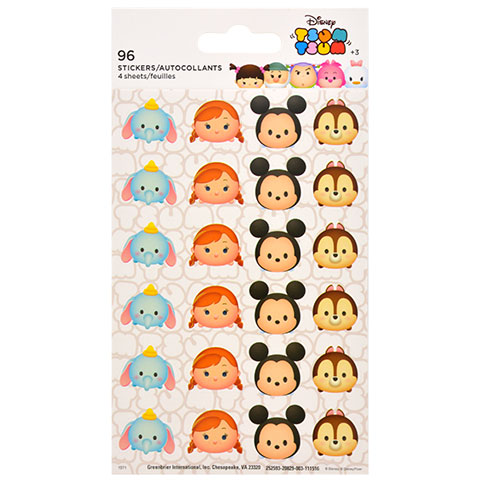 Dumbo, Mickey Mouse Tsum Tsum stickers you could buy for your next Walt Disney World vacation from Dollar Tree.