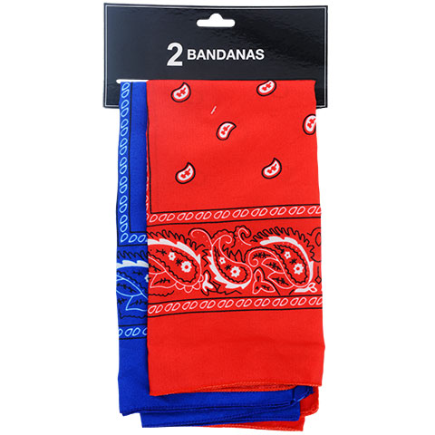 Red and blue bandannas you could buy for your next Walt Disney World vacation from Dollar Tree.