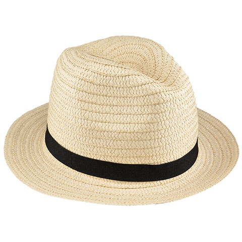 Stylish wicker fedora hat you could buy for your next Walt Disney World vacation from Dollar Tree.