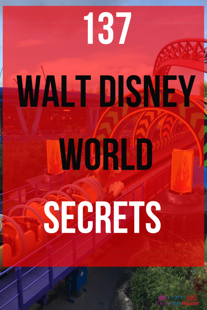 Walt Disney World Hidden Secrets and Tips with Slinky Dog Dash in the background. #disneytips #disneysecrets #disneyplanning