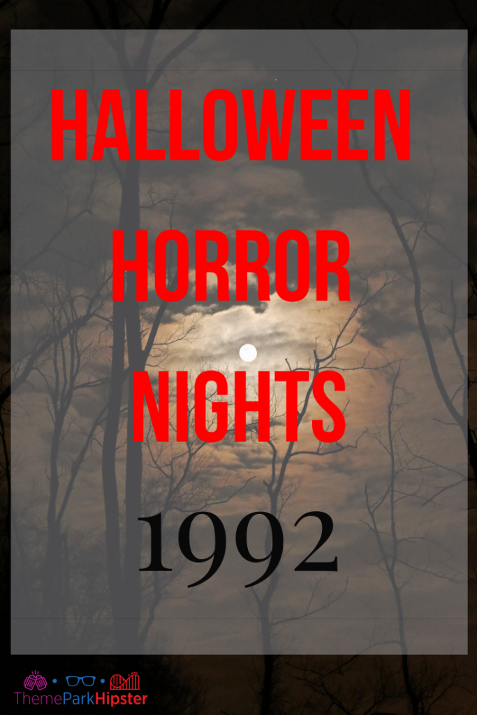 halloween horror nights 1992