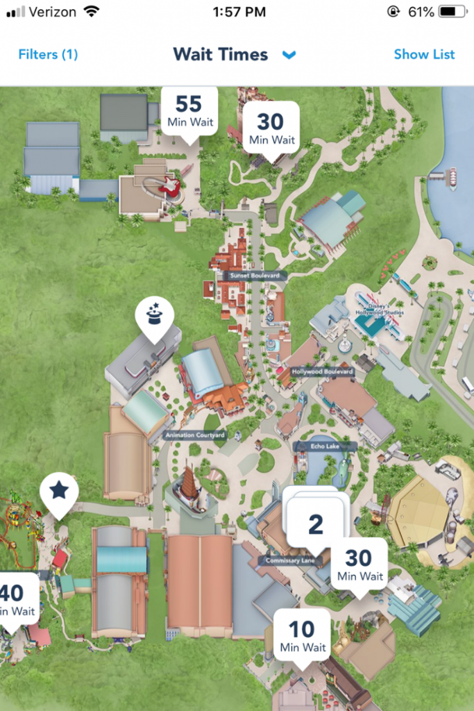 Hollywood Studios map