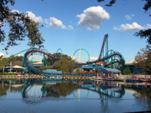 SeaWorld Tips and Tricks with blue roller coaster Manta