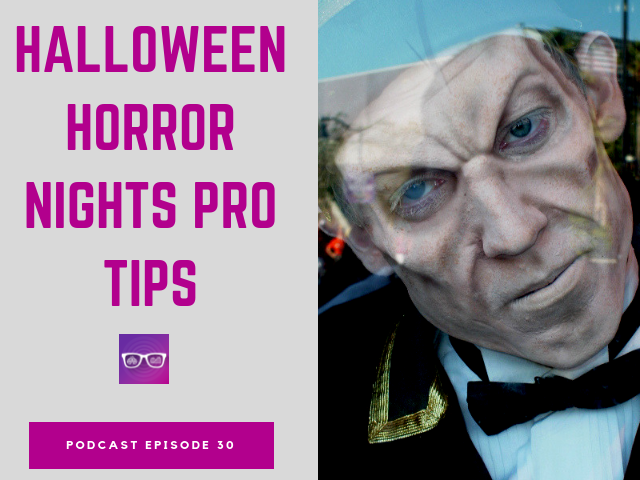 How to do Universal Halloween Horror Nights with theater monster staring at you.