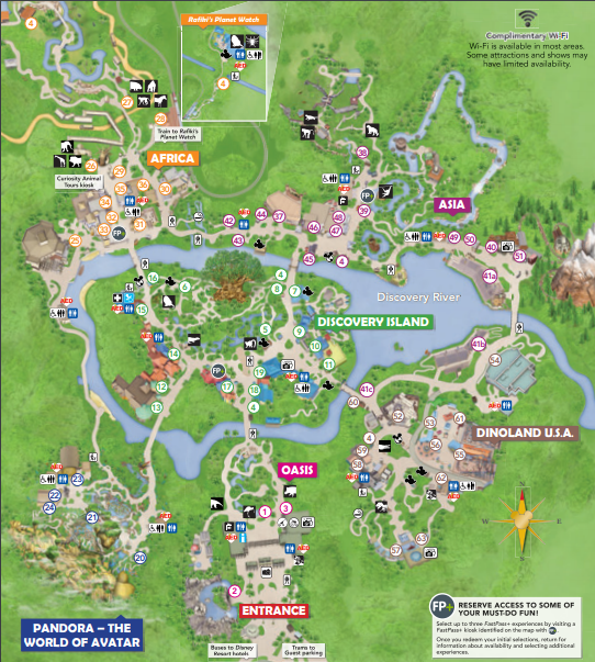 Animal Kingdom Map PDF 2020