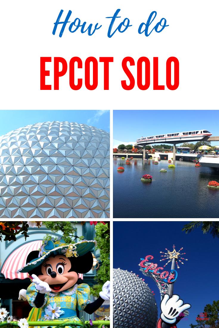 Disney Epcot Theme Park Solo. Spaceship earth with the monorail. #DisneyTips #Epcot #DisneySolo #DisneyPlanning