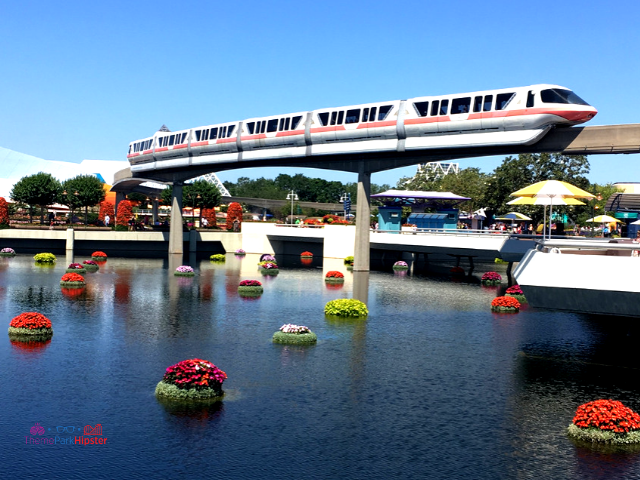 Disney Epcot Hidden Secrets Theme Park Solo. Spaceship earth with the monorail. #DisneyTips #Epcot #DisneySolo #DisneyPlanning