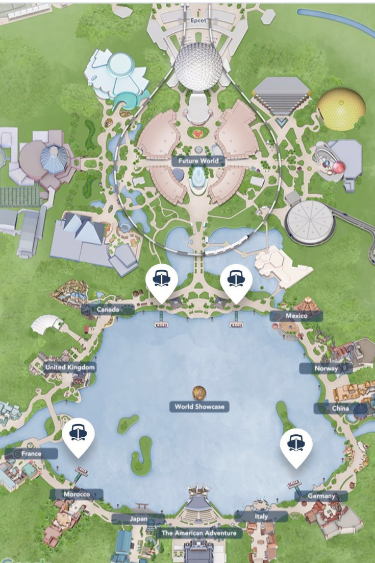Epcot Map #disney #disneytips #epcot