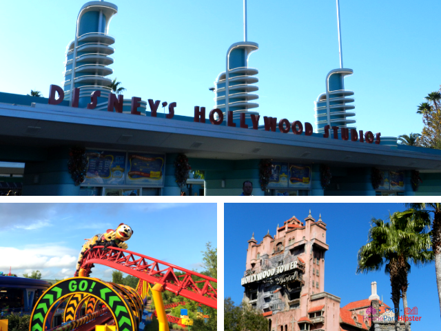 Everything you must do at Hollywood Studios with Mickey Mouse atop Hollywood Boulevard. #DisneyTips #HollywoodStudios