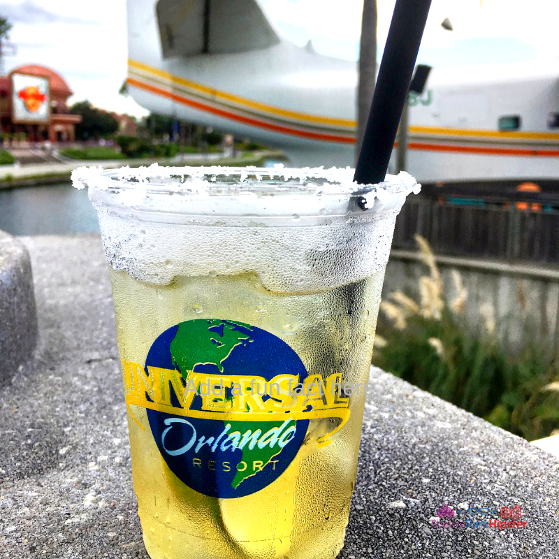 CityWalk Universal Orlando Margaritaville Delicious golden cocktail with lime.