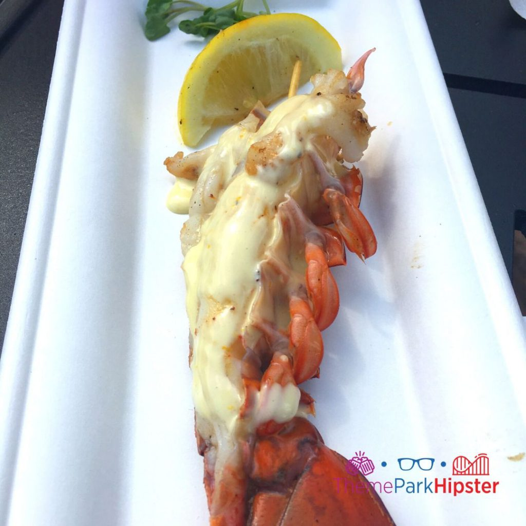 Epcot Flower and Garden Festival Lobster Tail with Meyer Lemon Emulsion and Grilled Lemon 2020