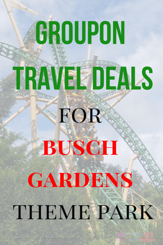 Groupon travel deals for Busch Gardens Tampa