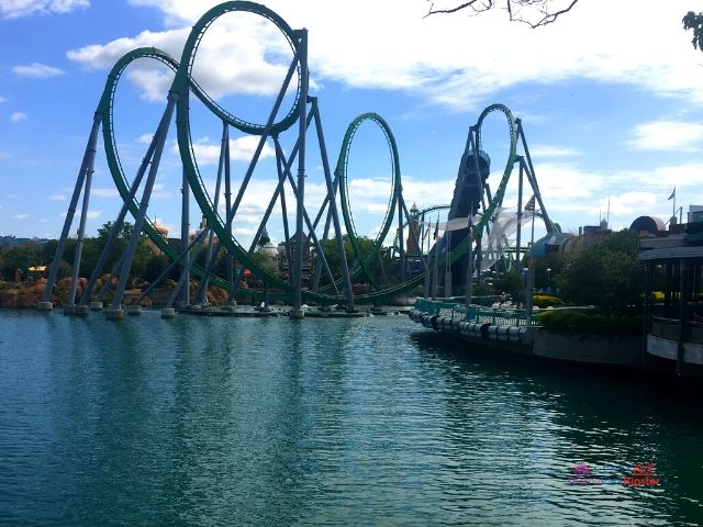 Islands of Adventure Tips Hulk Roller Coast Wide View