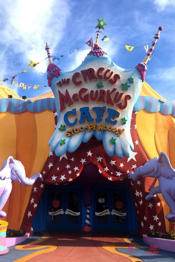 Islands of Adventure Tips at Seuss Landing Circus McGurkus Cafe Stoopendous