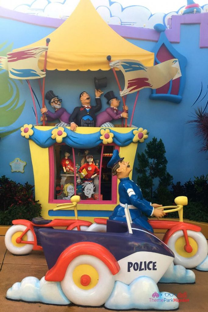 Islands of Adventure Tips with Seuss Landing Characters at a Race