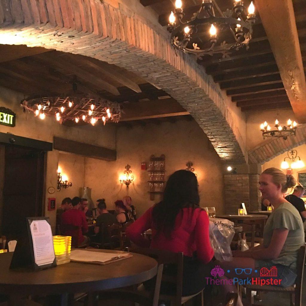 Lounge area of Tutto Gusto Epcot