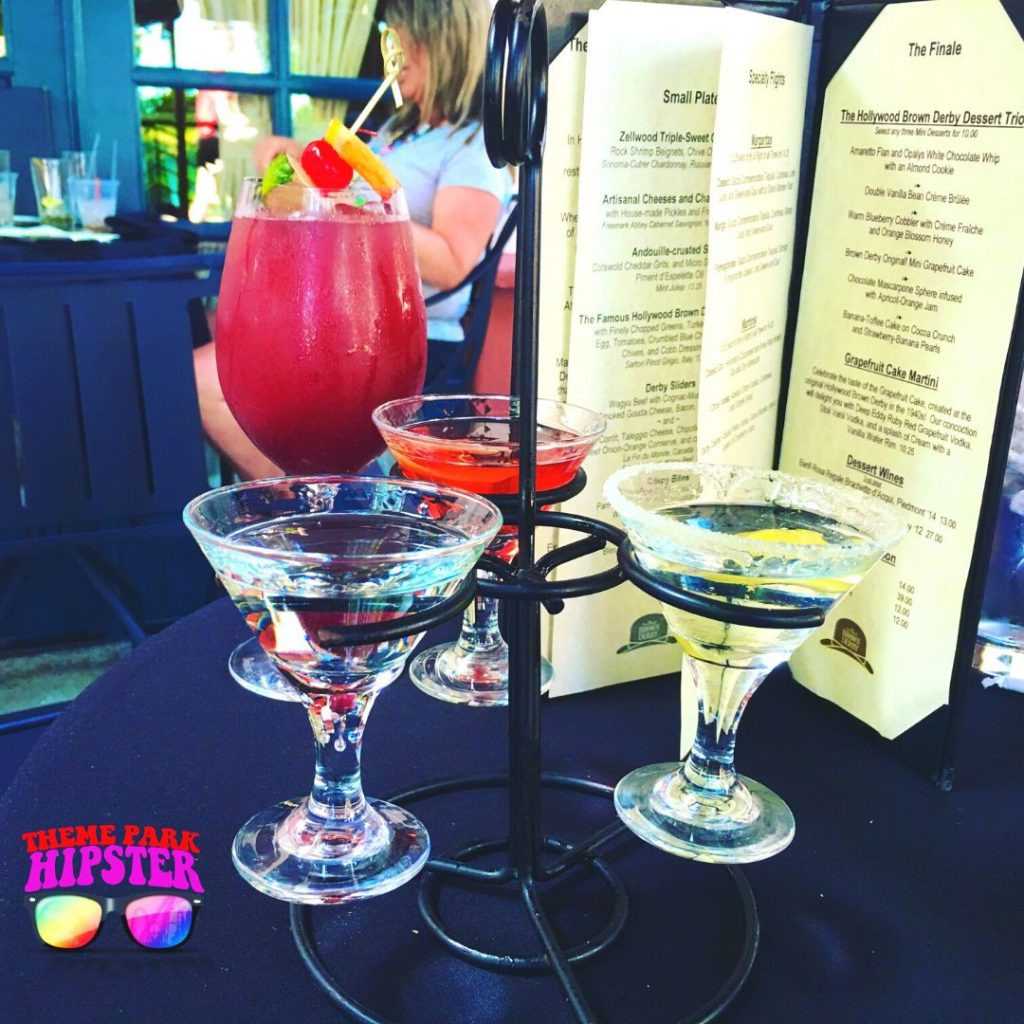Hollywood Studios Brown Derby with Martini Flight