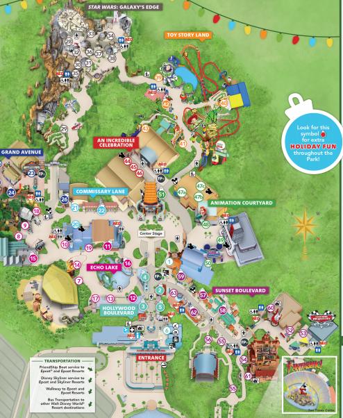 Hollywood Studios Map 2020