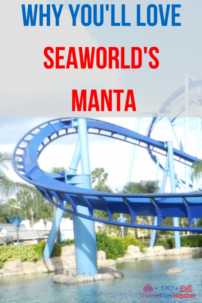 Manta SeaWorld Orlando blue roller coaster.