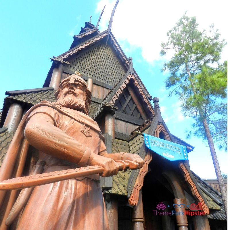 Stave Church with Viking in Norway Epcot