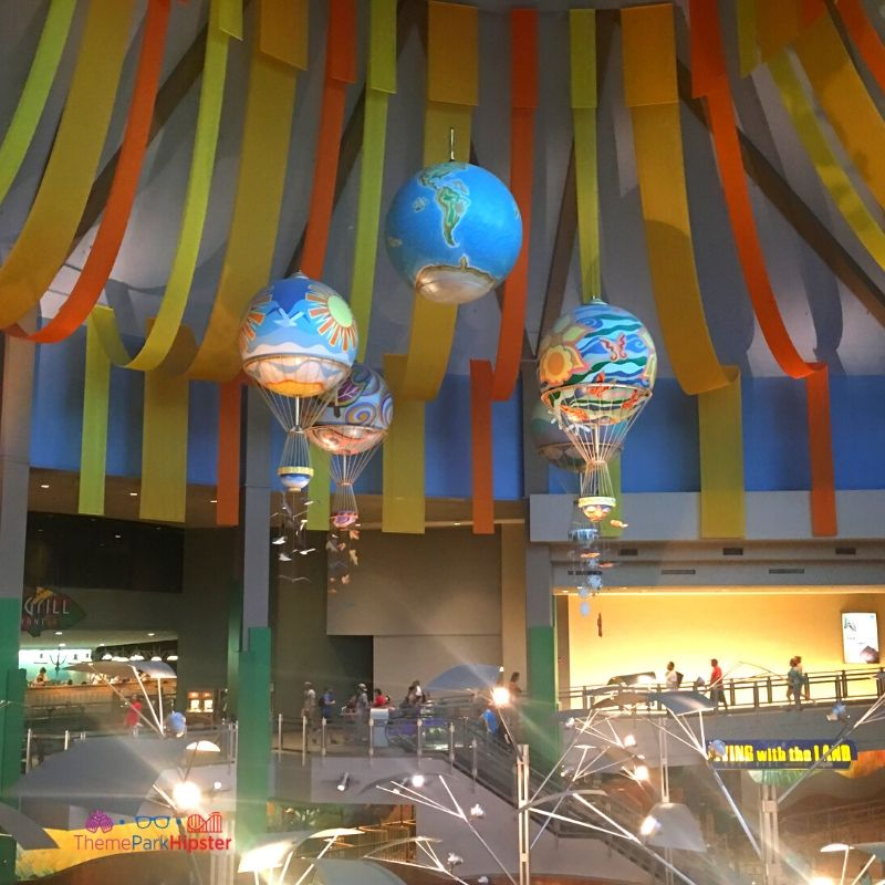 The Land Pavilion Earth Balloons at Epcot. The Epcot Hidden Secrets.