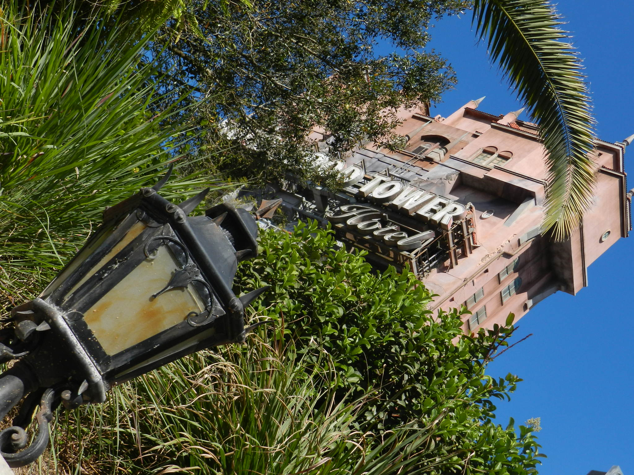 Hollywood Tower of Terror Ride at Disney's Hollywood Studios looking eerie